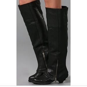 Black Leather Ash Tentation Over The Knee Boots